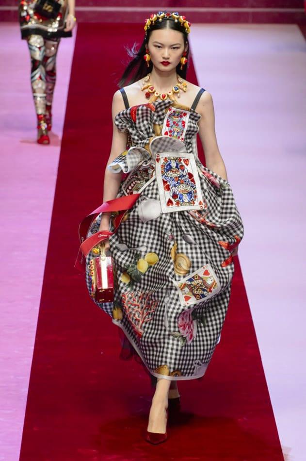 Abito con carte da gioco, Dolce&Gabbana