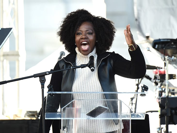 Viola Davis alla Women's March di Los Angeles