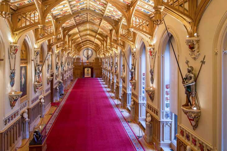 St George's Hall al Castello di Windsor Castle: qui Harry e Meghan daranno un ricevimento dopo la cerimonia di nozze