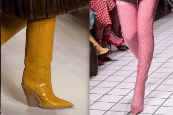 Foto: stivali e ankle boots, colore e azzardi fluoFoto: le scarpe con i tacchi alti viste in passerella