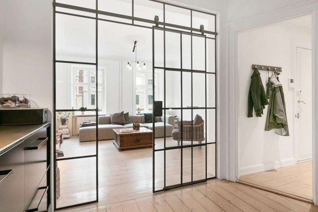 Le case di houzz acciaio e vetro in un appartamento danese life