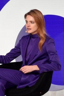 Natalia Vodianova alla conferenza Voices di Business of Fashion