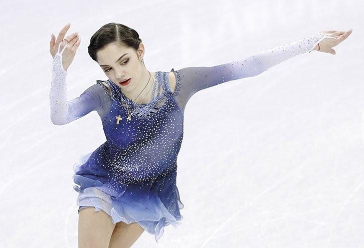 Evgenia Medvedeva a Pyeongchang.
