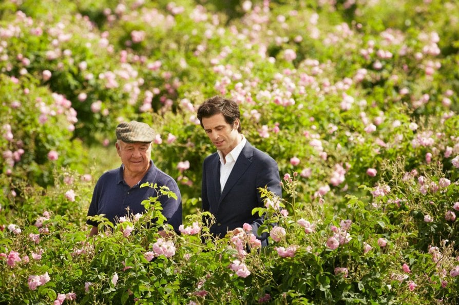 Olivier Polge, creator of Chanel Perfumes e Joseph Mul nei campi di Grasse