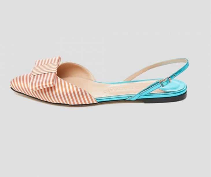 Sandali flat di seta, Mia Moltrasio