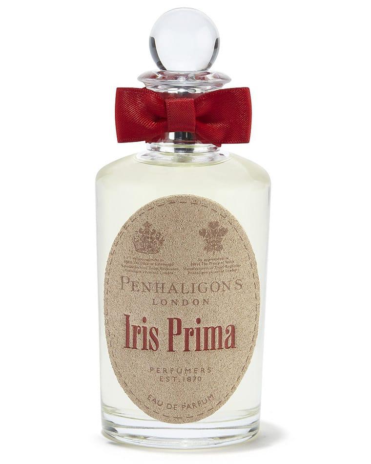 Eau de parfum che si apre con note pungenti di bergamotto, pepe rosa e ambra, e un cuore di iris, hedione e gelsomino indian, Iris Prima, Penhaligon's
