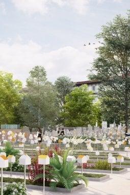 SmarTown nell'Orto botanico di Brera, il progetto di Mario Cucinella Architects e della sua School of Sustainability. In collaborazione con Eni gas e luce e Hive