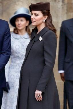 Kate con il pancione ai primi di aprile, nell'ultimo impegno ufficiale prima del parto