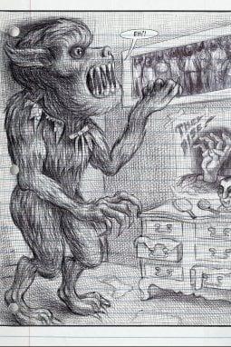 Una tavola tratta da La mia cosa preferita sono i mostri di Emil Ferris