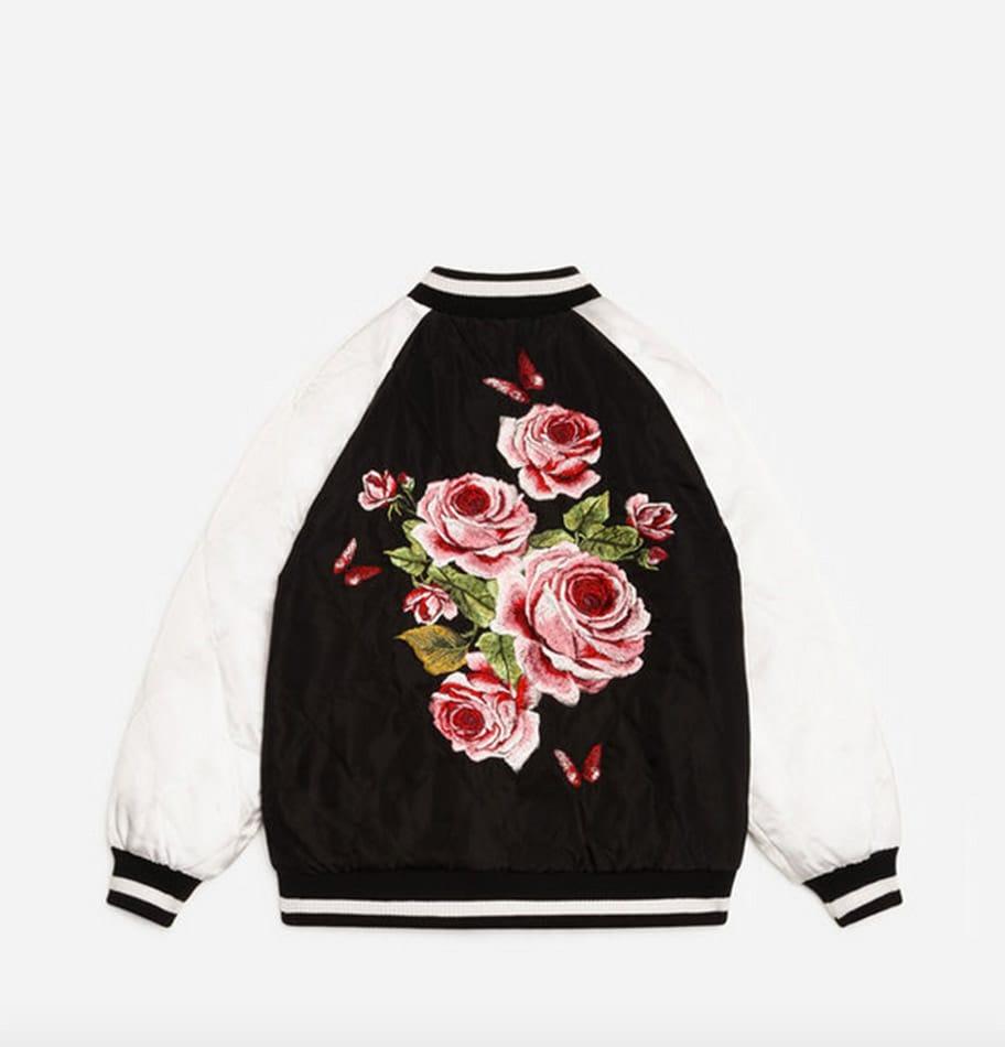 Bomber in nylon con ricami, Dolce&Gabbana;