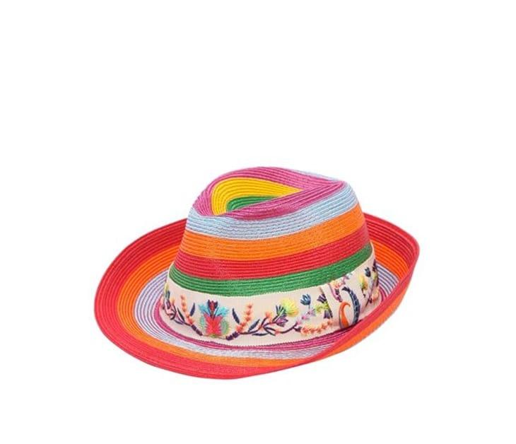 Cappello di paglia con bordo ricamato, Etro in vendita su Luisa Via Roma