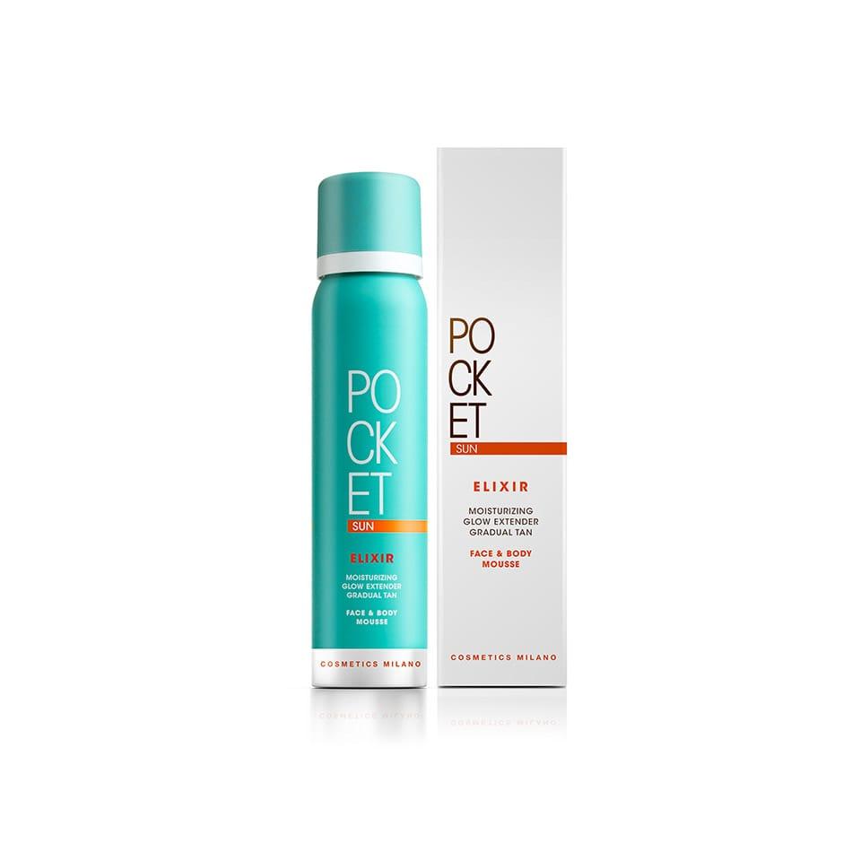 Mousse idratante e illuminante viso e corpo, Pocket sun elixir, Cosmetics Milano