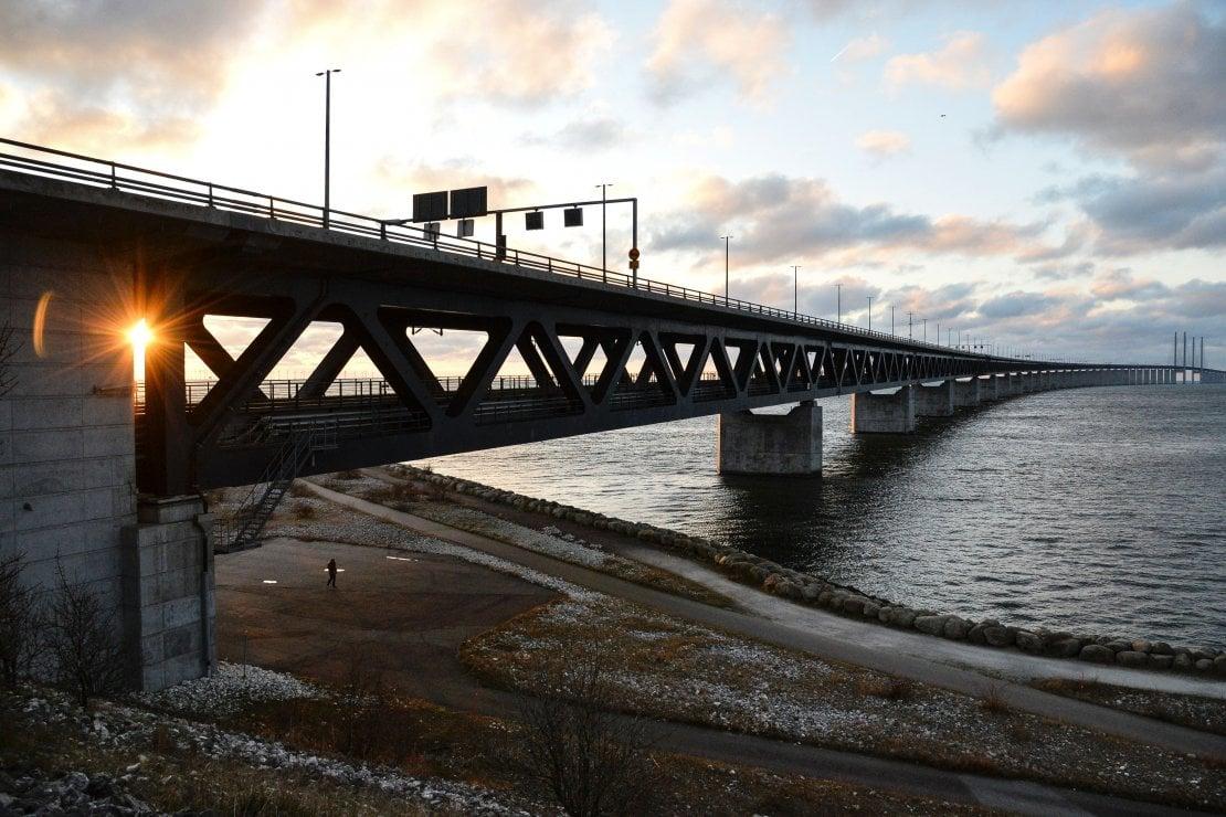 L' Øresund Bridge, che collega Copenaghen a Malmö.