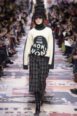 2018: un'immagine della collezione Christian Dior per l'autunno inverno 2018/19