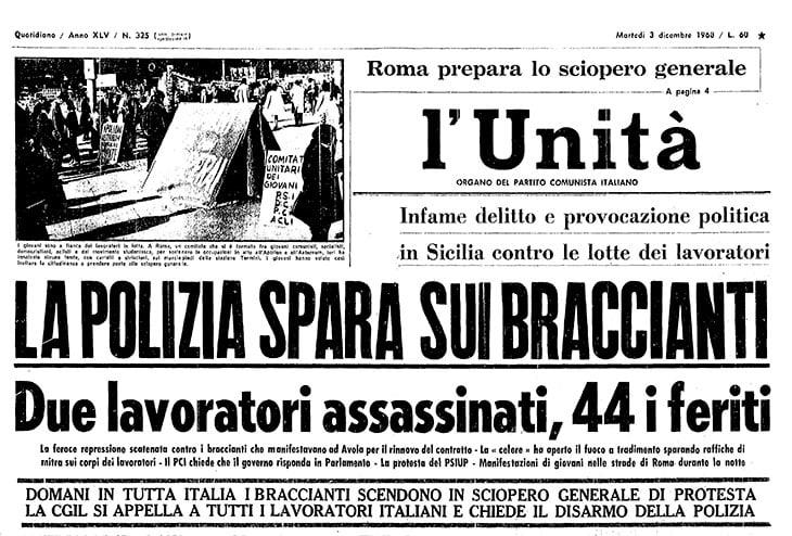 L'unità, 3 dicembre 1968
