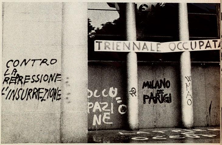 La Triennale occupata il 30 maggio 1968