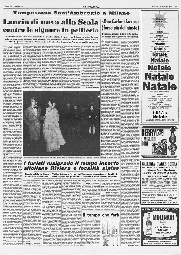 La Stampa, 8 dicembre 1968