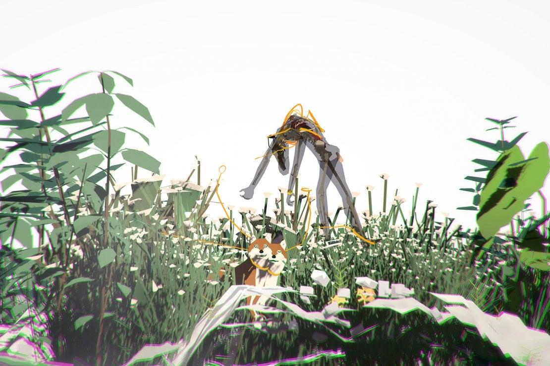Un frame delle simulazioni digitali di Ian Cheng visitabili a Venezia