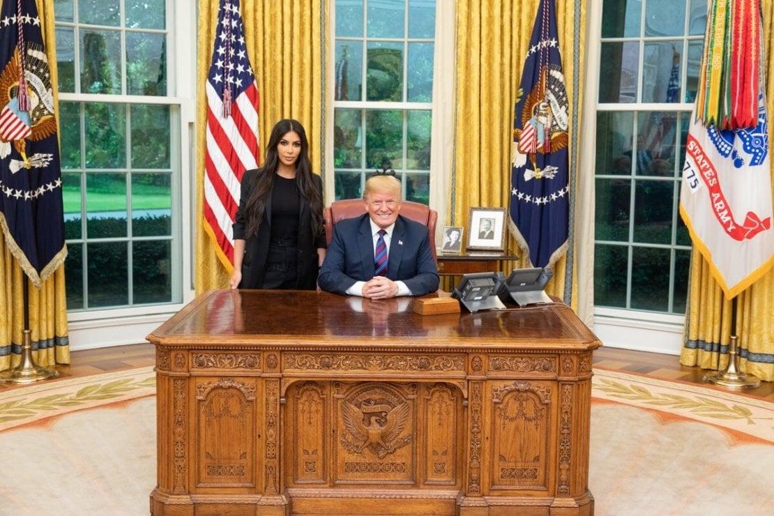 La foto pubblicata su Twitter da Donald Trump