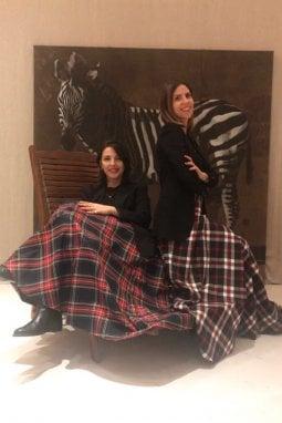 Le creatrici di Poupine: Francesca Romana Paciaroni (a sinistra) e Francesca Petaccia, a destra
