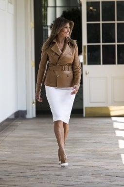 Il look di Melania Trump per la presentazione dell'iniziativa