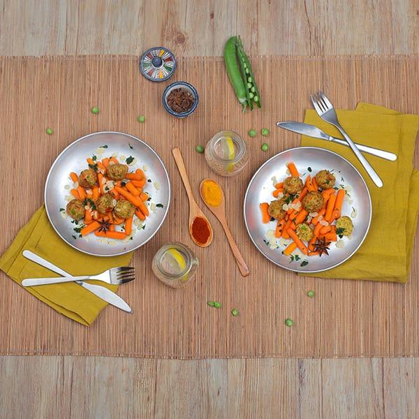 Polpette con falafe e contorno di verdure, Garden Gourmet