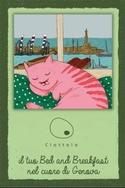 È Attila, un gatto rosa, la mascotte de Il ciottolo