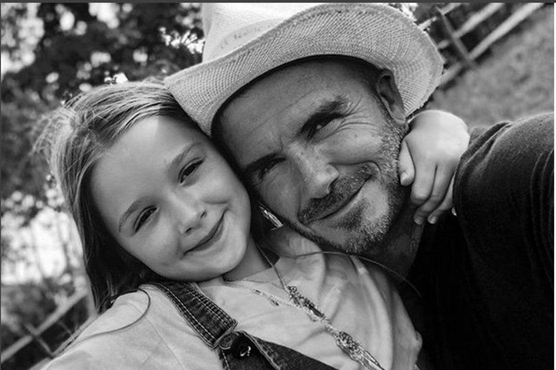 La cocca di papà: David Beckham fa gli auguri alla figlia Harper