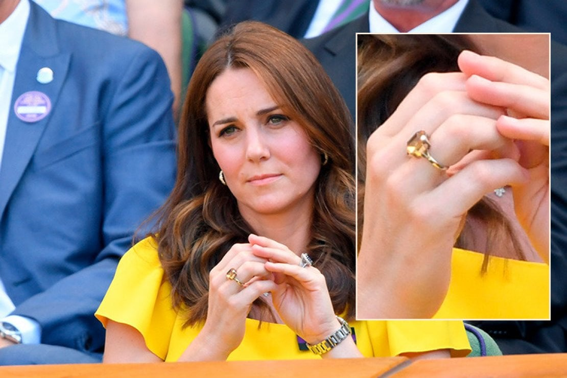Kate Middleton segue assorta il match di Wimbledon, cui assiste assieme al marito William