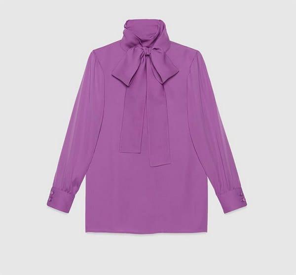 Camicia con fiocco, Gucci