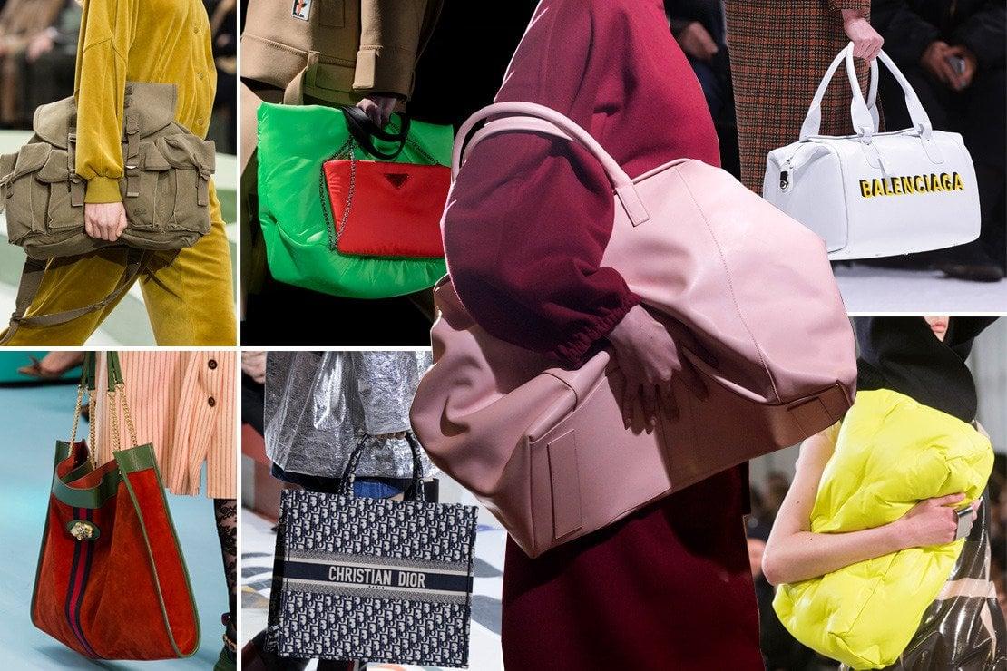 Dall'alto in senso orario: Lacoste, Prada, Mila Shon, Balenciaga, Maison Margiela, Christian Dior e Gucci