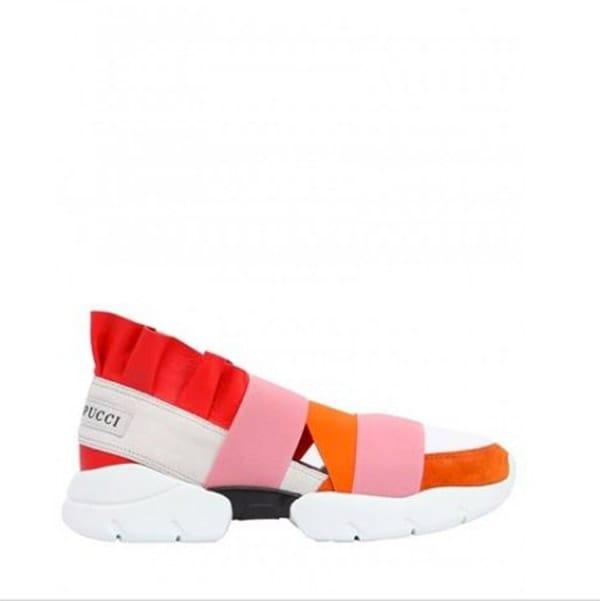 Sneakers con ruches, Emilio Pucci