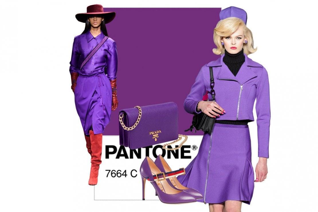 Da sinistra: sfilata di Alberta Ferretti, borsa di Prada, scarpe di Gucci, e abito di Moschino