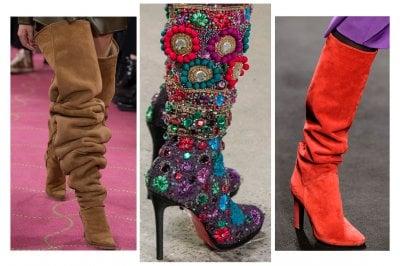 Stivali scenografici con tacco alto, l'accessorio più hot dell'Autunno 2018