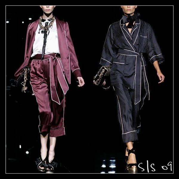 Foto tratta dalla storia del pigiama nella moda di Dolce&Gabbana;