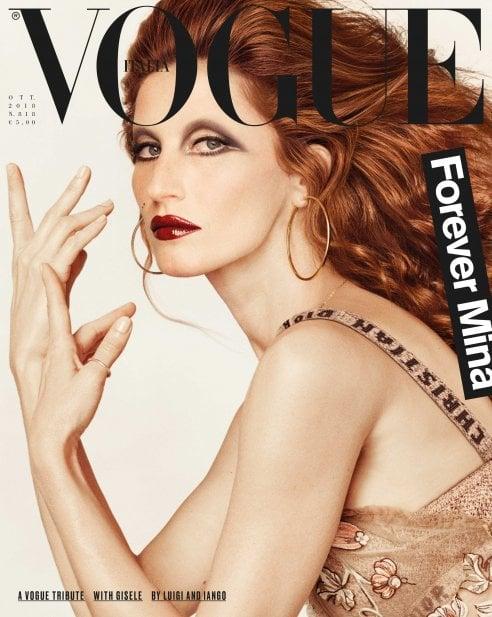 60 anni di Mina: da Gisele Bundchen a Carla Bruni, le supertop incarnano l'icona della musica italiana per Vogue