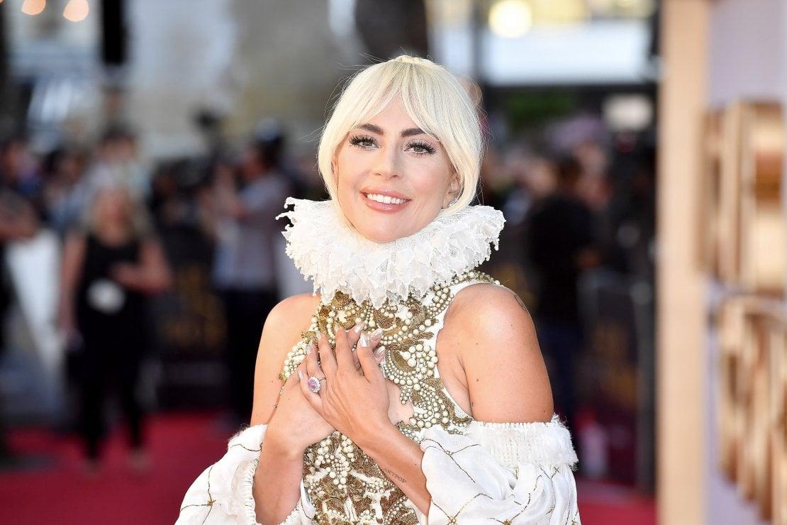 Lady Gaga durante la presentazione del film A star is born di cui è protagonista