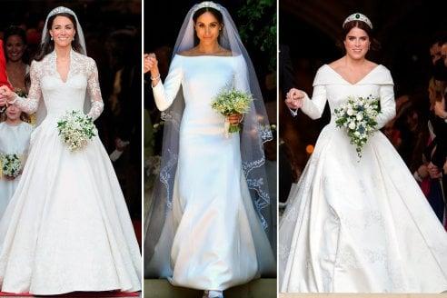 Vestiti Da Sposa Kate Middleton.Kate Middleton Meghan Markle Ed Eugenia Di York Gli Abiti Da