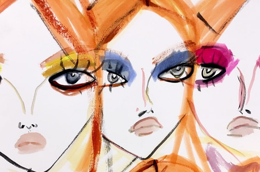 Foto courtesy Mac Cosmetics - Make up Peter Pilotto