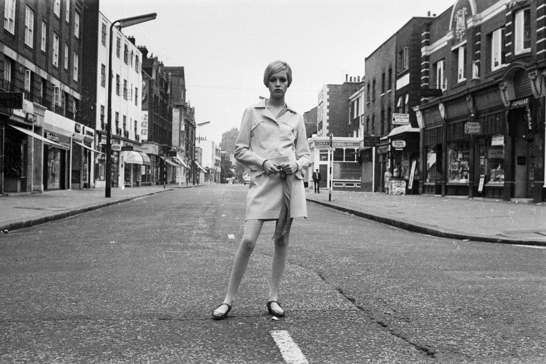 Twiggy a Londra nel 1966