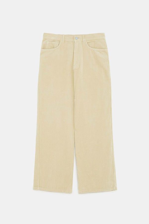 Pantaloni di velluto a costa larga, Zara
