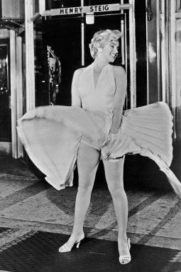 La famosa immagini di Marilyn Monroe in Quando la moglie è in vacanza