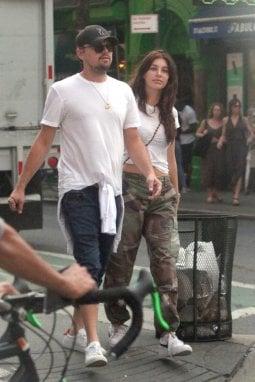 Leo con Camila Morrone
