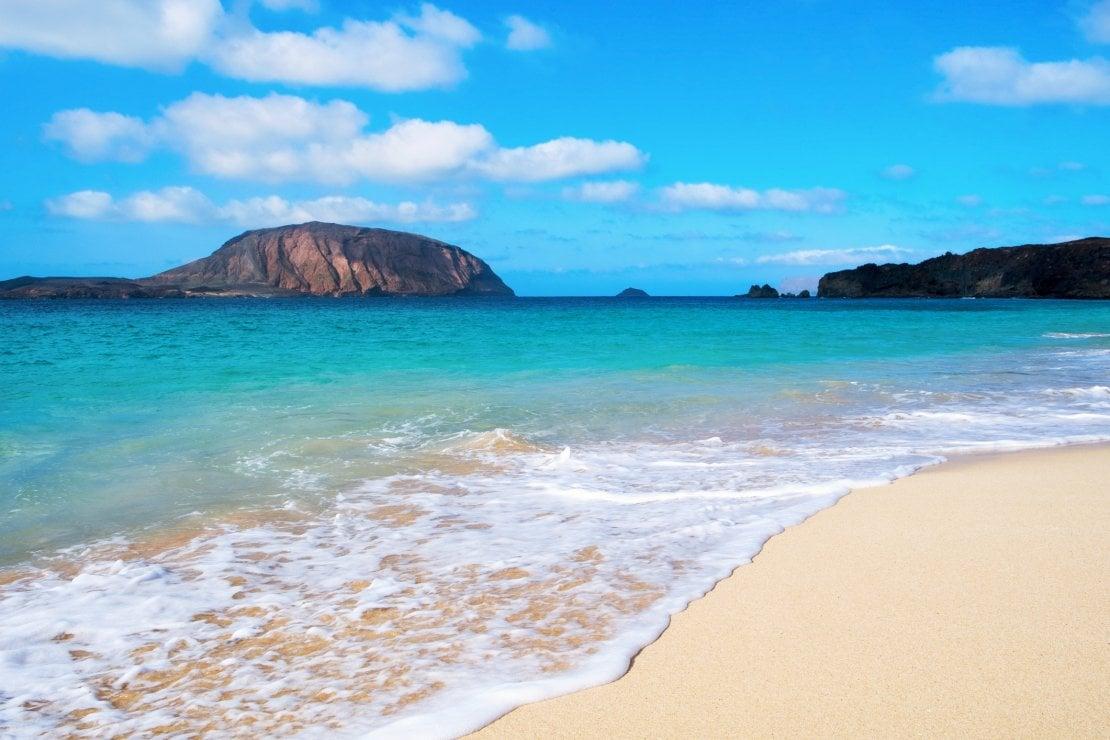 Playa de la Conchas beach in La Graciosa island, Canarie