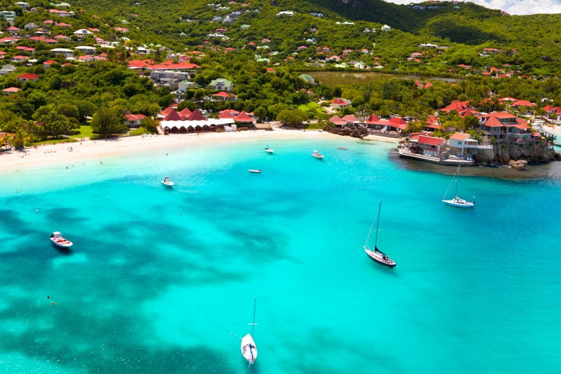 St. Jean Bay in St Barths