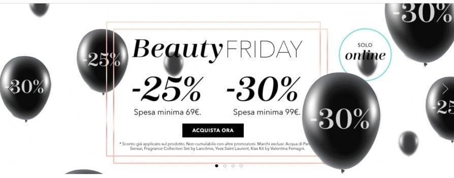 Black Friday 2018: sconti, occasioni e promozioni beauty per creme, profumi e make up
