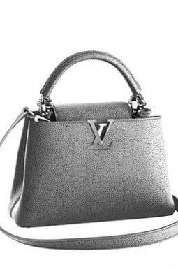 Borsa di pelle argentata, Louis Vuitton
