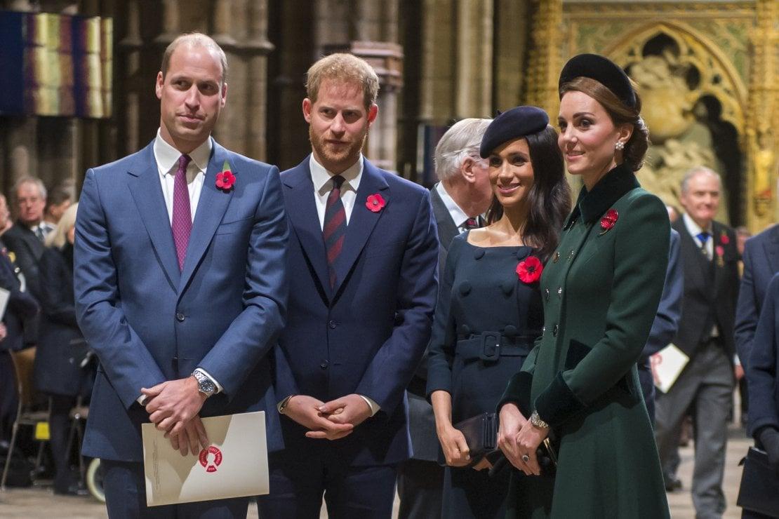 Il principe William, il principe Harry, Meghan e Kate