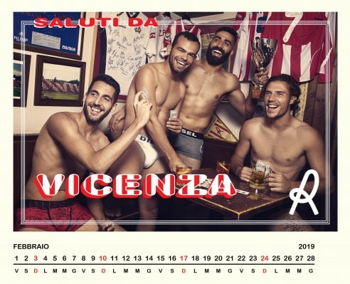 Calendario Vicenza.Calendario 2019 Diesel Veste I Calciatori Del Vicenza Per