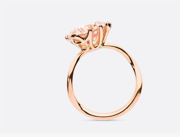 Anello OUI oro rosa 750/1000 e morganite, Dior